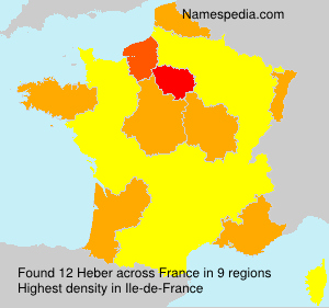 Surname Heber in France