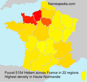 Surname Hebert in France