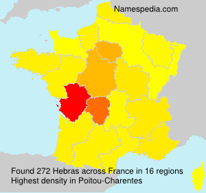 Familiennamen Hebras - France
