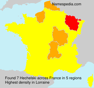 Surname Hechelski in France