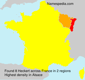 Surname Heckert in France