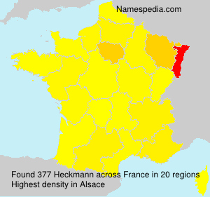 Surname Heckmann in France