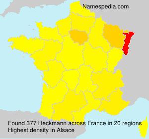 Surname Heckmann in France