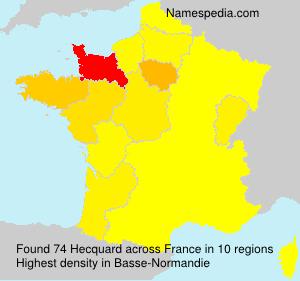 Surname Hecquard in France