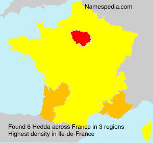 Surname Hedda in France
