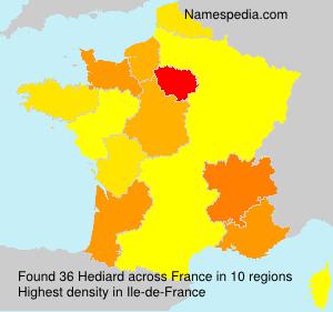 Familiennamen Hediard - France