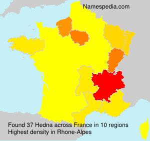 Surname Hedna in France