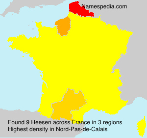 Surname Heesen in France