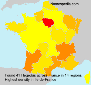 Surname Hegedus in France