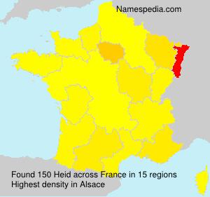 Surname Heid in France
