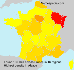 Surname Heil in France