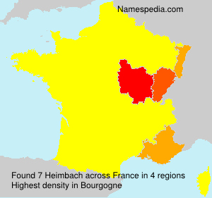 Surname Heimbach in France