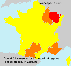 Surname Heimen in France