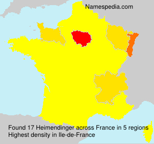 Surname Heimendinger in France