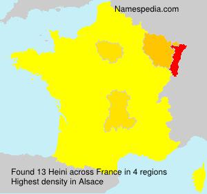 Surname Heini in France
