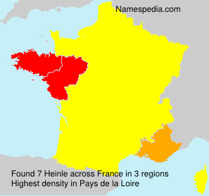 Surname Heinle in France