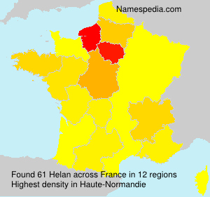 Surname Helan in France