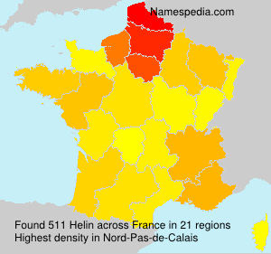 Surname Helin in France