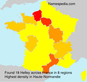 Surname Helley in France
