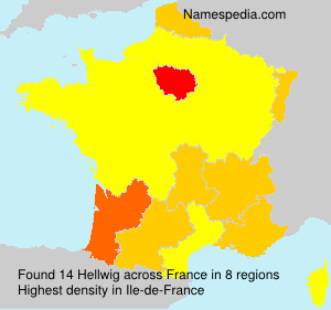 Surname Hellwig in France