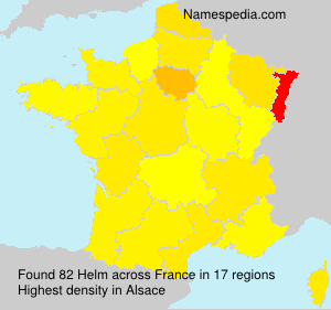 Surname Helm in France