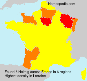 Surname Helmig in France