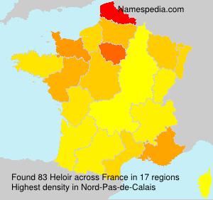 Familiennamen Heloir - France