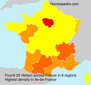 Surname Helson in France