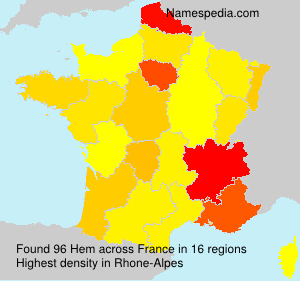 Surname Hem in France