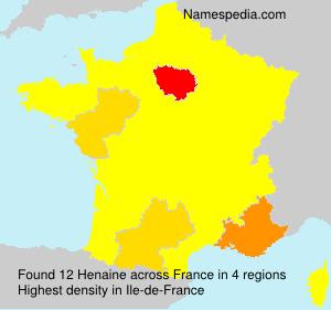 Familiennamen Henaine - France
