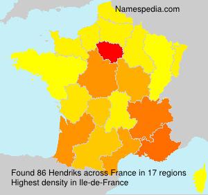 Surname Hendriks in France