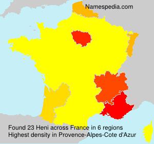 Surname Heni in France
