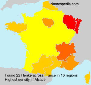 Surname Henke in France