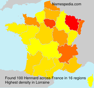 Surname Hennard in France