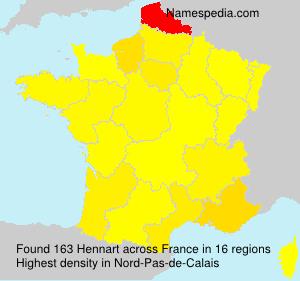 Familiennamen Hennart - France