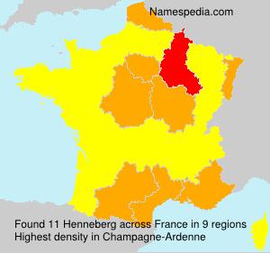 Surname Henneberg in France