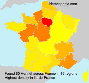 Surname Hennet in France