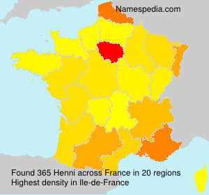 Surname Henni in France