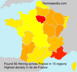Surname Hennig in France