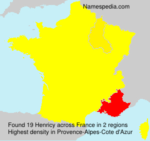 Surname Henricy in France