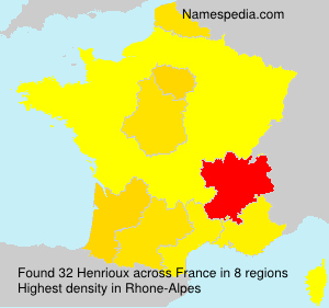Surname Henrioux in France