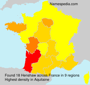 Surname Henshaw in France