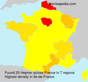 Surname Hepner in France