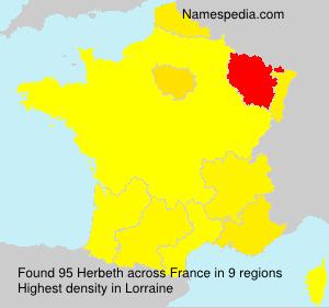 Surname Herbeth in France