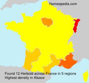 Surname Herbold in France
