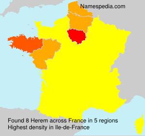 Surname Herem in France