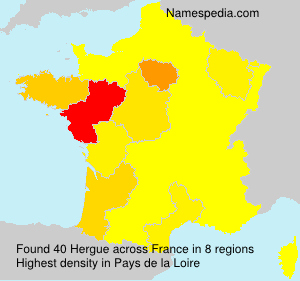 Surname Hergue in France