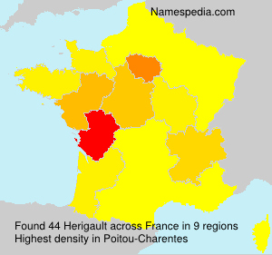 Surname Herigault in France
