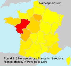 Surname Herisse in France