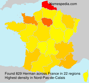 Surname Herman in France